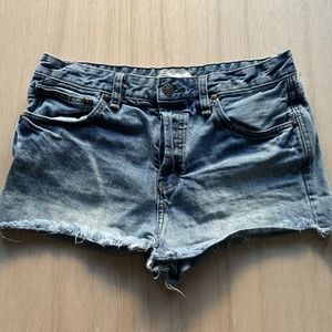 Free People Blue Jean Cut Off Shorts Womens